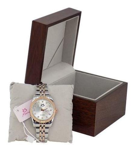 Relógio Feminino Analógico Limited Madeira Edition Caixa