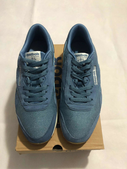 Zapatos Rebook Clasicos (cl Nylon M) Color Azul