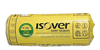 Lana De Vidrio Isover Con Aluminio X 21.6m2 - Rolac Plata