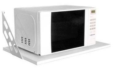 Estante Y Mensula Microondas Grill Cocina 60 X 40 Cm Blanca