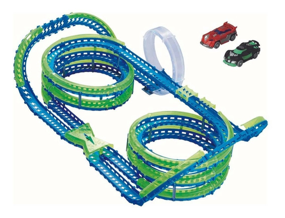 Pista Autos Sensor Onda Super-helix Speedway Wave Racer Toys