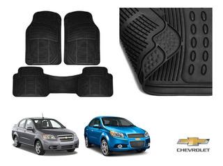 12 en negro y ribete azul coche tapetes Chevrolet Aveo