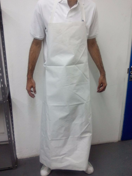 Delantal Pvc Blanco 100 Cm X 70 Cm