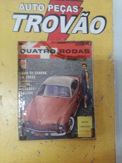 Revista Quatro Rodas Ano 1 - Ed: N° 1 Conservada Ago: 1960