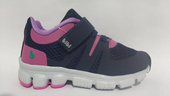 Tênis Bibi Icon Baby Marinho Pink 824164