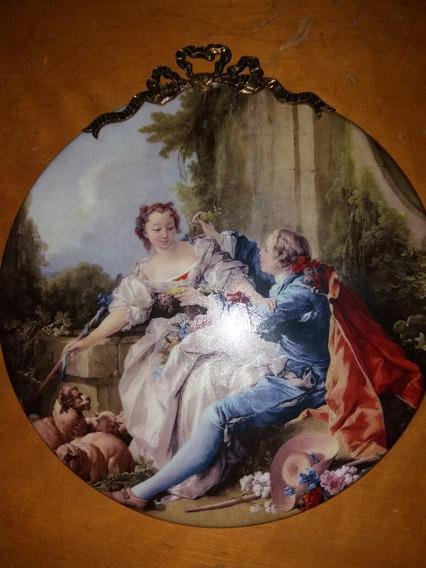 Placa Cuadro En Porcelana De Limoges