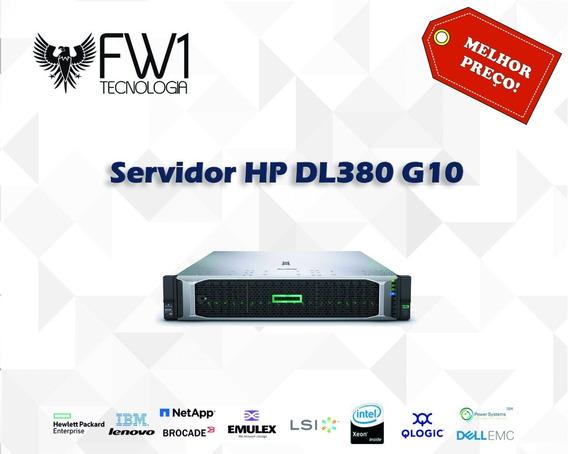 Servidor Hp Dl380 G10 1x Silver 4114 10c 32gb Ram P408i-a