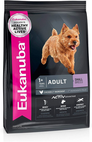 Imagen 1 de 3 de Alimento Para Perro Adulto Eukanuba Raza Pequeña (sb) 6.8kg