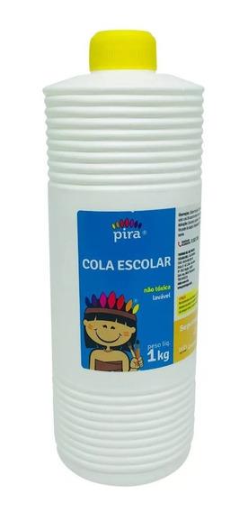 Kit C/03 Colas Brancas 1kg Pira Escolar E Slime -promoção