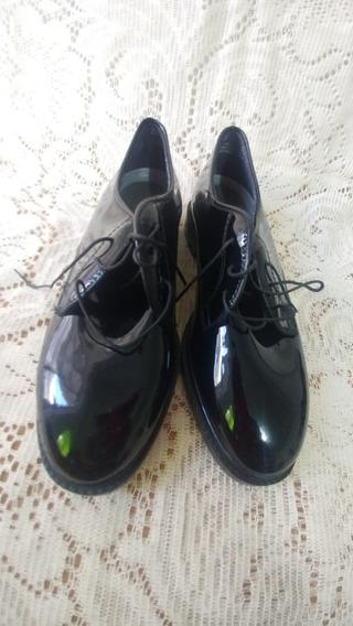 Zapato Militar Capps De Charol Brilloso Dama 8 Americano