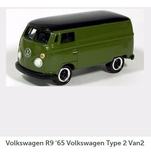 Johnny Lightning 1965 Volkswagen Type 2 Van Grenn 1:64