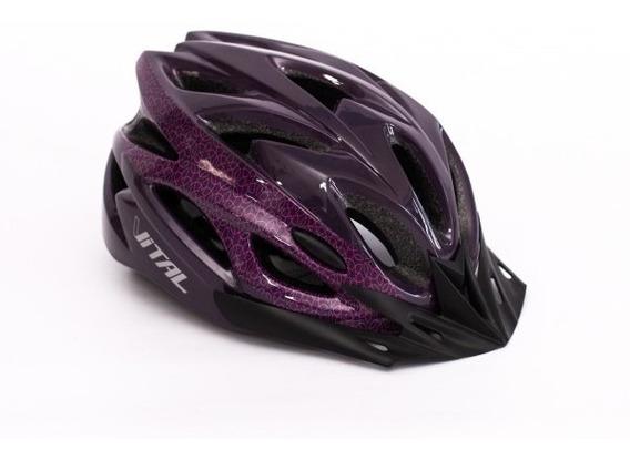 Casco Para Bicicleta Vital Phoenix Con Ventilacion Y Luz Led
