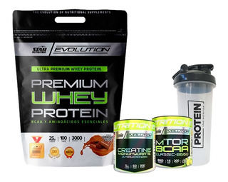 Whey Protein 3kg + Creatina 300 + Mtor + Vaso Star Nutrition