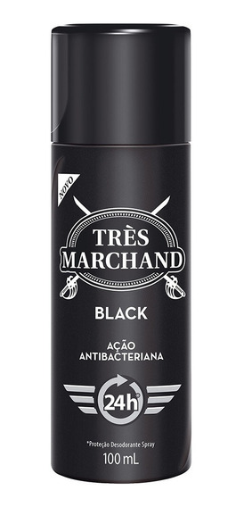 Desodorante Spray Très Marchand Masculino Black 100ml