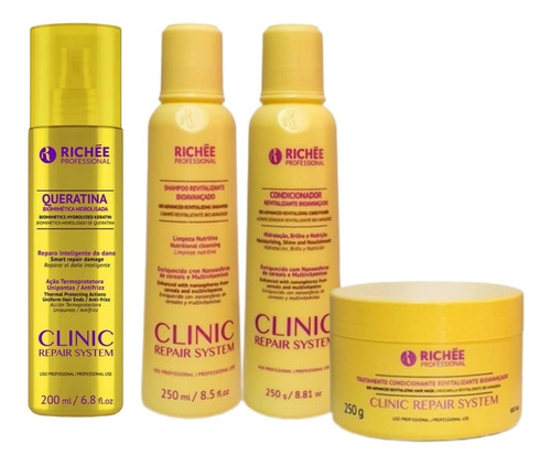 Kit Richée Professional Clínic Repair System 4 Unds Completo