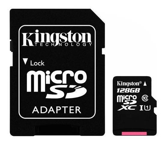 Cartão De Memória Micro Sd Kingston 128gb Ultra80 Classe 10