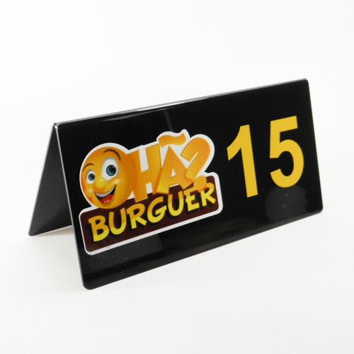 Placa Mesa Bar Numero Restaurante Logo 35 Unidades