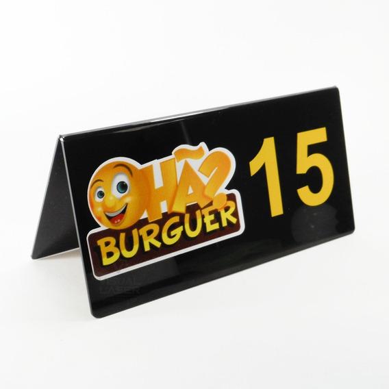 Placa Mesa Bar Numero Restaurante Logo 30 Pç Acrílico
