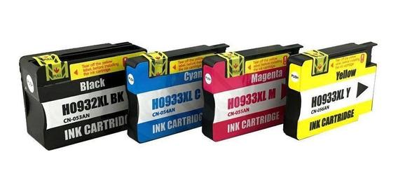 Kit 4 Cartucho Compativel 932xl 933xl 7110 7510 7610 7612