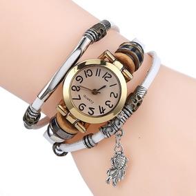 Pulseira Woven Feito À Mão Retro Relógios Preto