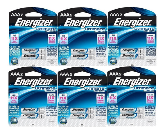 16 - Pilha Aa 1.5v Lithium Litio Energizer Ultimate