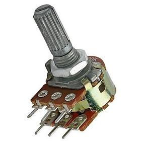 10 Peças - Potenciômetro Linear Duplo L20 10k 6t Wh148-2