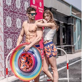 Short Feminino Estampado Moda Praia Verão 2019 # A63b