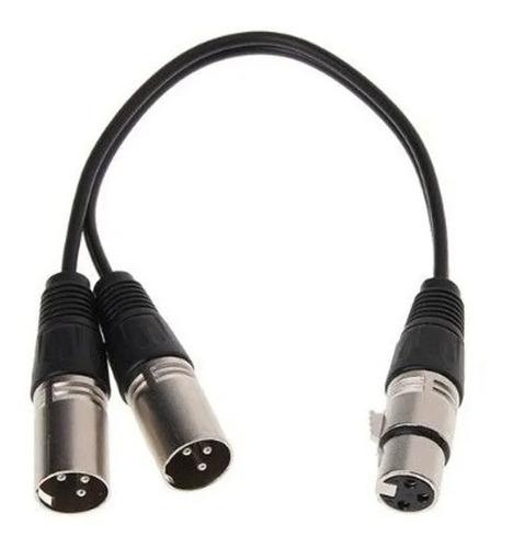 Imagen 1 de 4 de Cable Adaptador Canon Hembra A 2 Canon Macho 30 Cm Xlr Audio