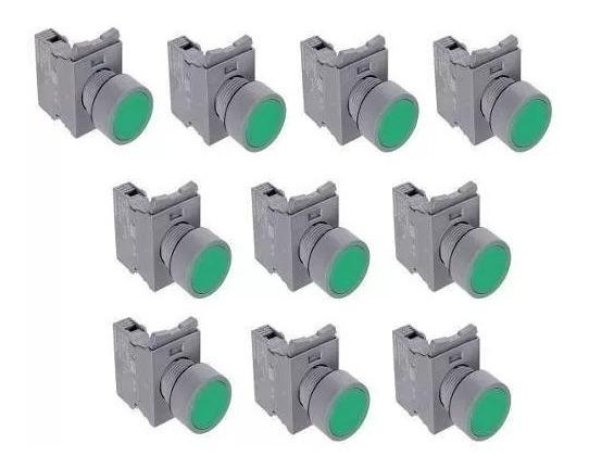Botão De Pulso Verde Telemecanique Zb2-be101