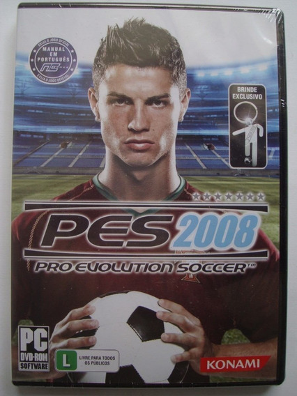 Pro Evolution Soccer 2008 Pes 2008 + Brinde - Pc - Original