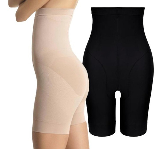 2 Shorts Slim Loba Loba Lupo Slim 5691 Cintura Alta Redutor