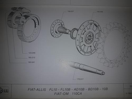 Mando Final Topadora Fiat Allis Ad12 Ad10 Ad9 Ad7