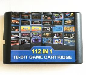Cartucho Mega Drive Multi Jogos 112 Jogos In 1 Sega Genesis