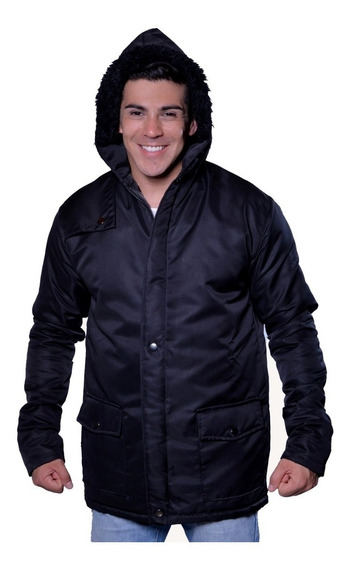 Jaqueta Sobretudo Casaco Impermeável Com Capuz Para Inverno