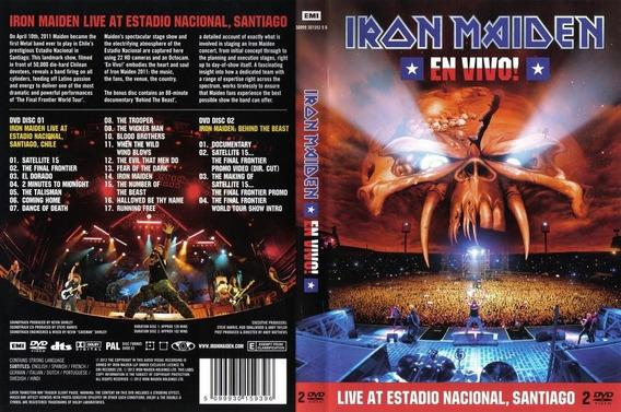Dvd Iron Maiden Live At Estadio Nacional Santiago Musicanoba