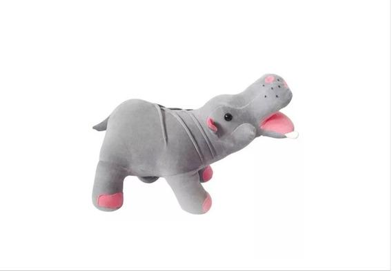Hipopótamo De Pelúcia Safari Mini