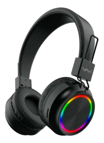 Imagen 1 de 8 de Audifonos Vak 2026 Bluetooth Fm Entrada Sd Aux Diadema Led