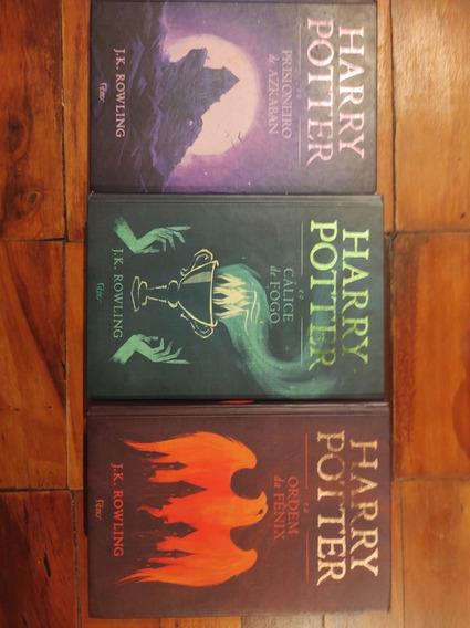 Harry Potter 3,4 ,e 5 Capa Dura Editora Rocco Semi-novo