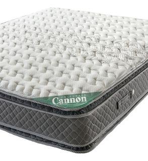 Colchon 2 Plazas Cannon Doral Pillow 140 X 190 Resortes