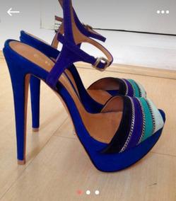Sandália Schutz 35 Azul! Lindíssima!