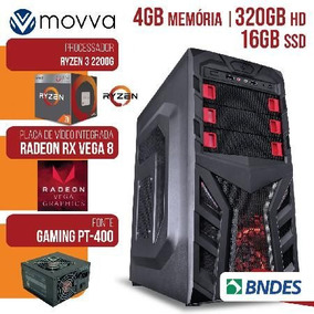 Computador Gamer Amd Ryzen 3 2200g 3.5ghz Memoria 4gb Hd 32