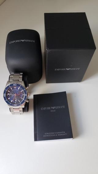 Relógio Empório Armani Ar5933 Azul 44mm