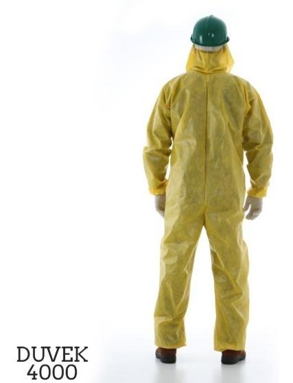 5 - Macacão Amarelo Hospitalar Contra Bactérias Impermeável