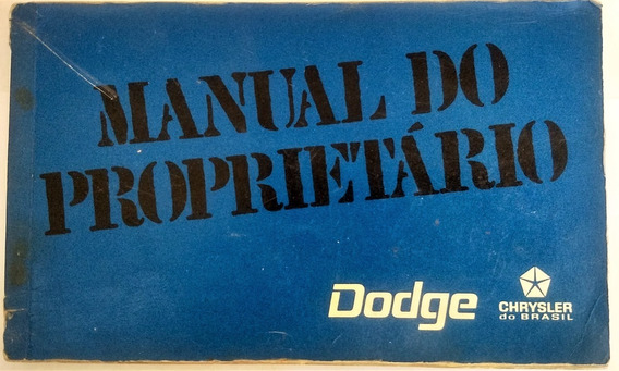 Manual Do Proprietário Dodge Chrysler 1973