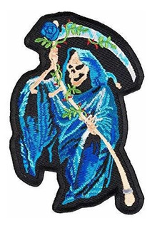 Patchstop Blue Grim Reaper & Rose Patch, Patches