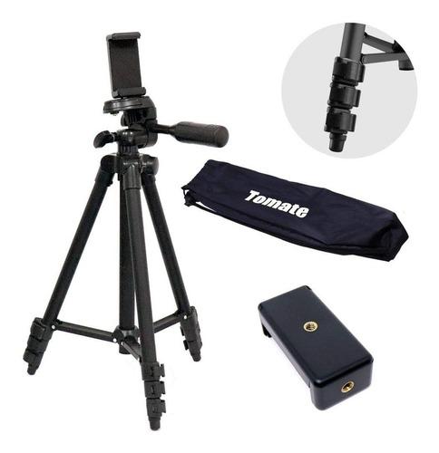 Tripé Universal Profissional Portátil Câmeras E Celular1,06m