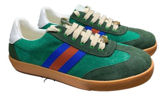 Tenis Sneakers Gucci Green, Envío Gratis