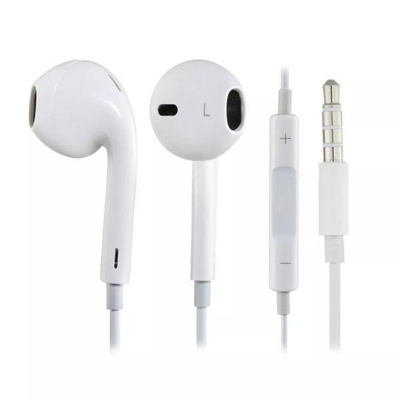 20 Fone De Ouvido Earpods In Ear De 3,5 Mm Branco
