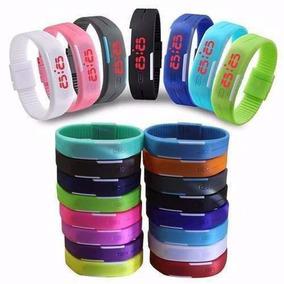 Relógio Led Digital Sport Bracelete Pulseira Silicone S Logo