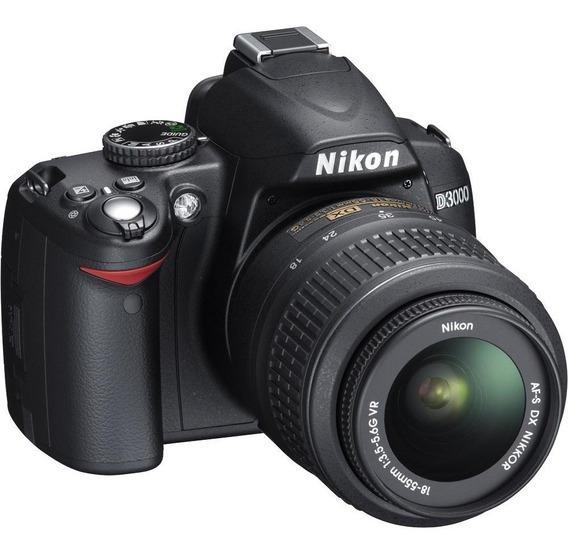 Nikon D3000 C/ Obj 18-55mm3.5-5.6g Dx, Ótimo Estado